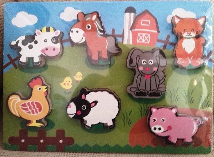 ENCAJE DE MADERA GRANJA  (12 €) http://www.babycaprichos.com/encaje-puzle-animales-de-la-graja.html