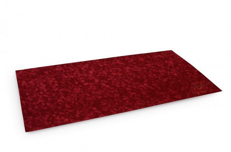 Tapis de poker 120x60 en suédine (rouge) - Pokeo.fr - Tapis de poker 120x60 en suédine bulgommée de couleur rouge.