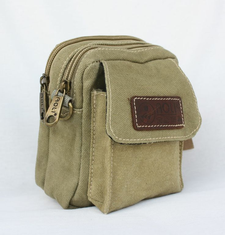 Outdoor casual waist pack strap waist pack small canvas waist pack single shoulder bag packets mobile phone bag