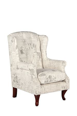 "This comfortable wingback chair has a classic look and is complemented with deep button detail and its linen upholstery. The subtle rose and script print on the traditionally themed piece adds interest to any lounge setting and the high back provides your back and neck with excellent support.<div class=""pdpDescContent""><ul><li> Linen</li><li> Assembly required	</li></ul></div><div class=""pdpDescContent""><"