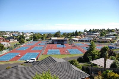 Club tennis, home of the Burnie International in early February each year.  Photo by Dale Wiley.