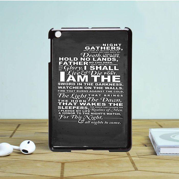 The Nights Watch Oath iPad Mini 2 Case Dewantary