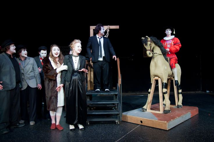 Tiger Brown - deux ex machina: the royal official on his horse - 'The Threepenny Opera' by Bertolt Brecht, produced by Felt Tip Theatre Company