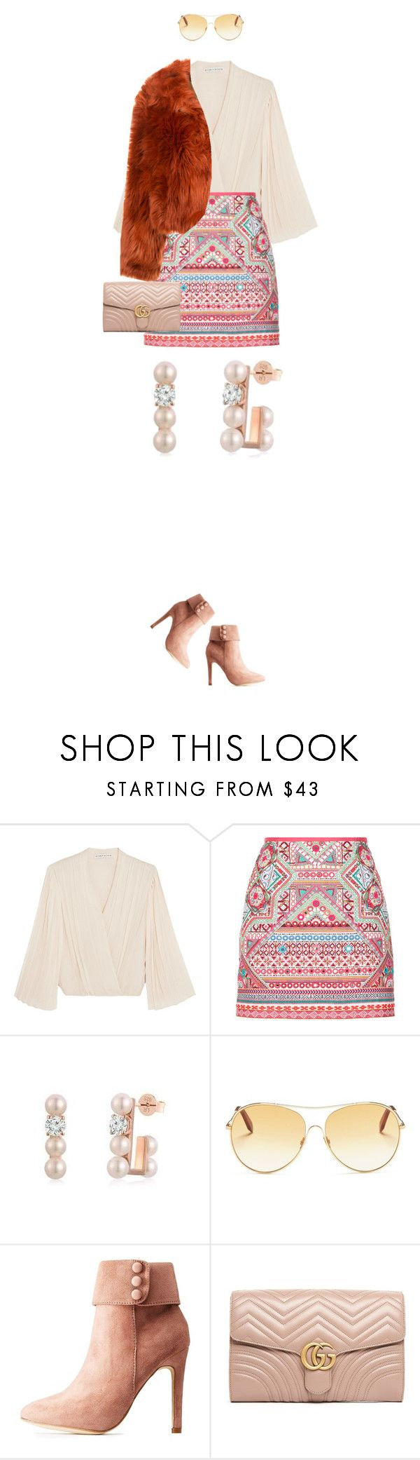 """""""eva1873"""" by evava-c on Polyvore featuring Alice + Olivia, Accessorize, MBLife.com, Victoria Beckham, Hot Kiss, Gucci and Maison Margiela"""
