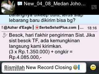 Update !! Pesanan Mba Ditha, Medan Johor 18 Box #NHCP + 9 Botol #Zinc Capsule....