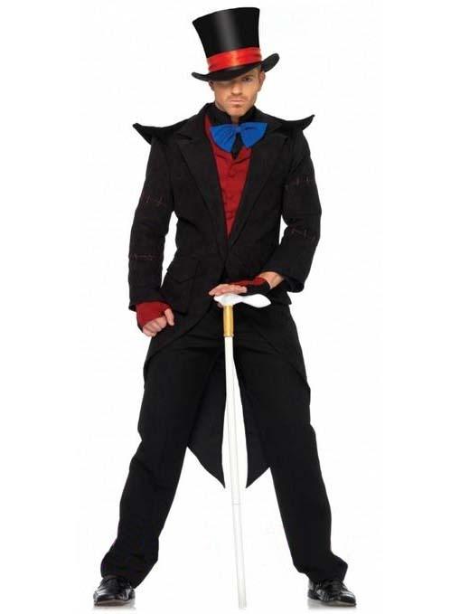 Black Deluxe Magician Costume Dark Knight Character  sc 1 st  Pinterest & 13 best Costumes for Men images on Pinterest | Costumes for men ...