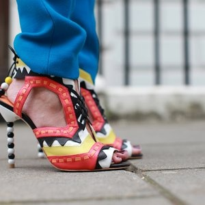 street style LFW. statement shoes.
