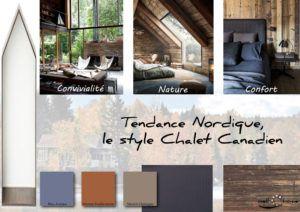 Moodboard - Déco, planche d'ambiance, tendance nordique, style Chalet Canadien, réalisation well-c-home