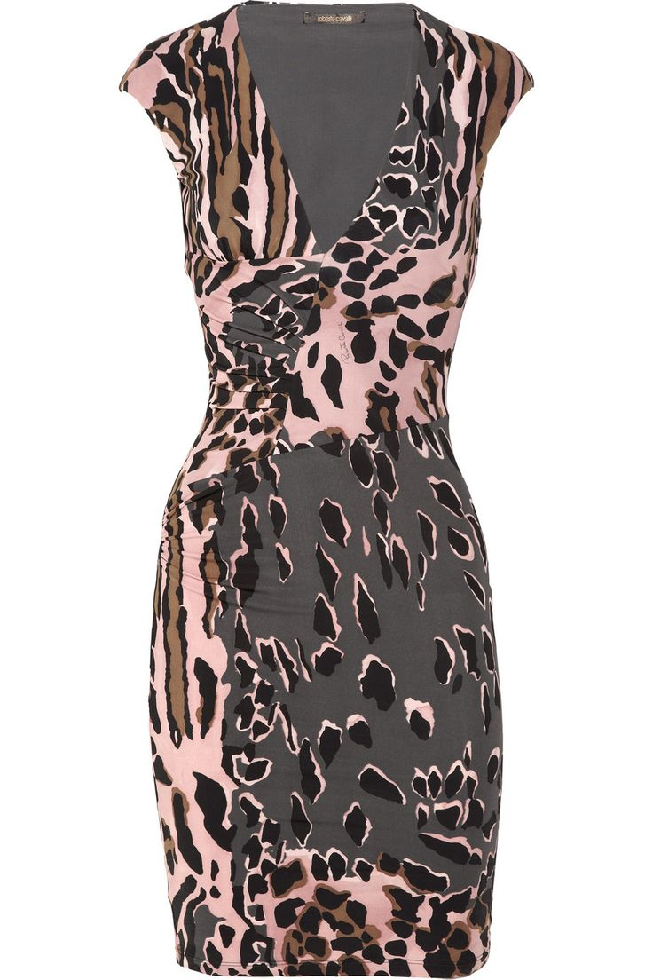 Animal-print stretch-jersey dress by Roberto Cavalli