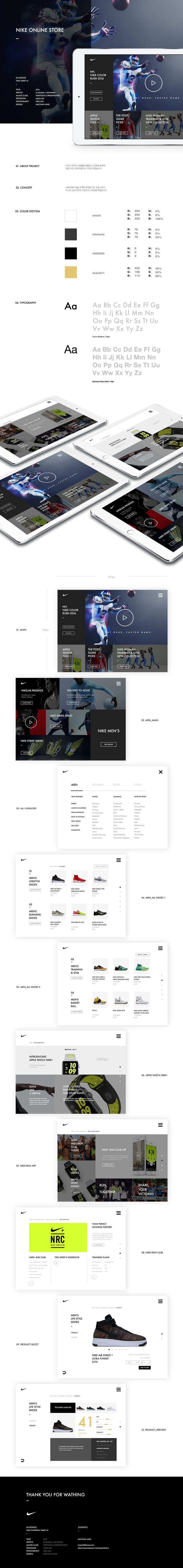 [UI Design] Nike Online store Tablet on Behance