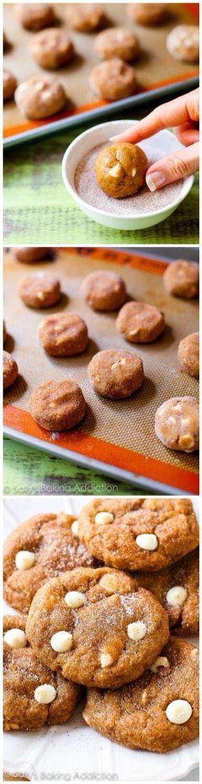 White Chocolate Pumpkin Snicker doodles #Food #Drink #Trusper #Tip