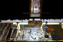 The making off the stained glass window for 'De Nieuwe Kerk' Amsterdam.
