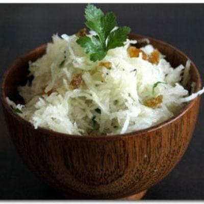 Betterave blanche en salade