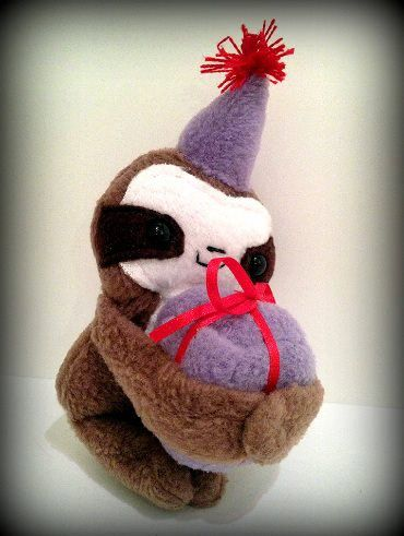 Handmade Cedric the baby Sloth Party Magnetic Plush by Plusheeze
