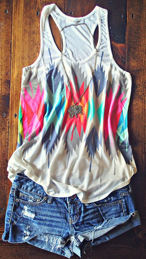 I like this tank!!!!     Color Me Feathered Tribal Tank https://www.stitchfix.com/referral/3094007
