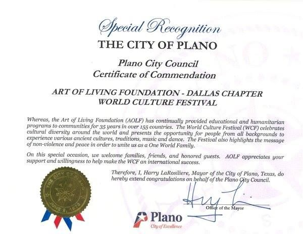 Hu0027Ble Mayor Of City Of Plano, Texas, Mr. Harry LaRosilieri Congratulates