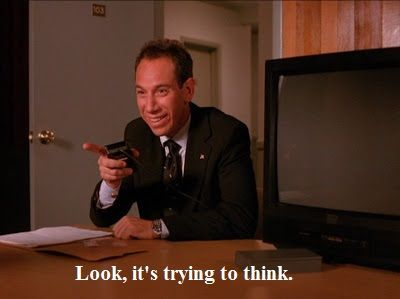 Albert ripping on Sheriff Truman ~ Twin Peaks