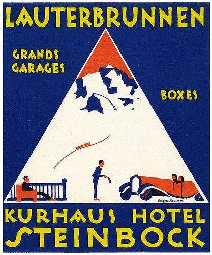 https://flic.kr/p/xmRft | Untitled | lauterbrunnen kurhaus hotel steinbock I luggage label