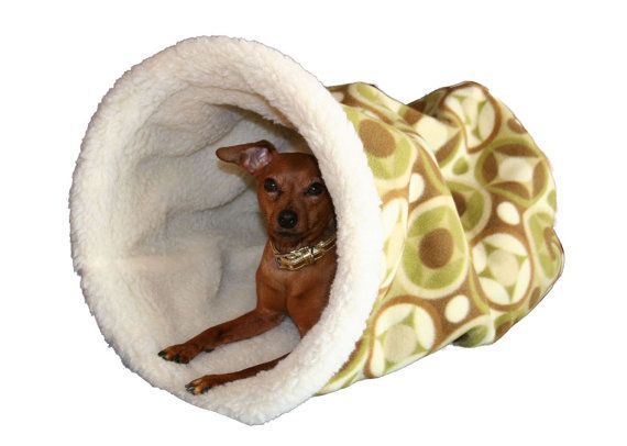 Burrow Bed Cozy Cave Dog Beds Chihuahua Beds Olive Pattern