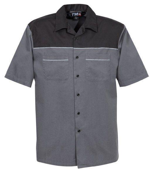 Amazon.com: Tri-Mountain Men's Big And Tall Professional Twill Camp Shirt: Clothing - 3XL tall - Black/Grey