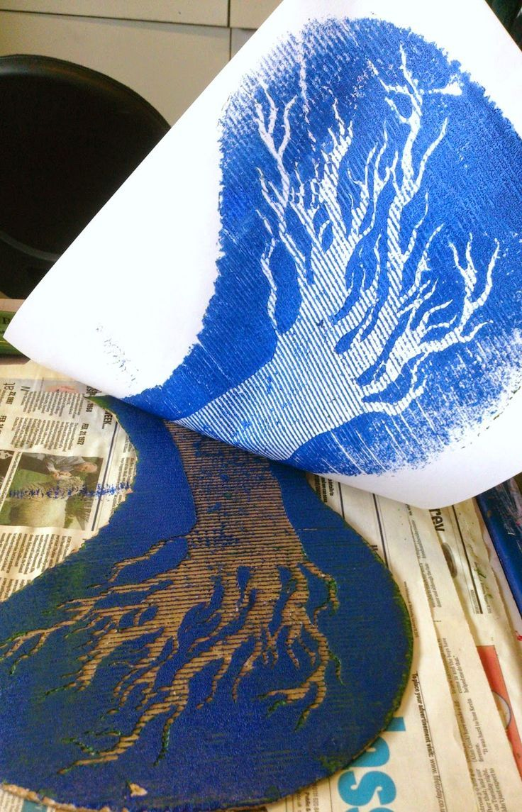the art room plant: Cardboard Printing II
