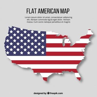 Dibujo Plano De Mapa De Estados Unidos Con Diseno De Bandera Mapa De Estados Unidos Bandera De Usa Bandera De Estados Unidos