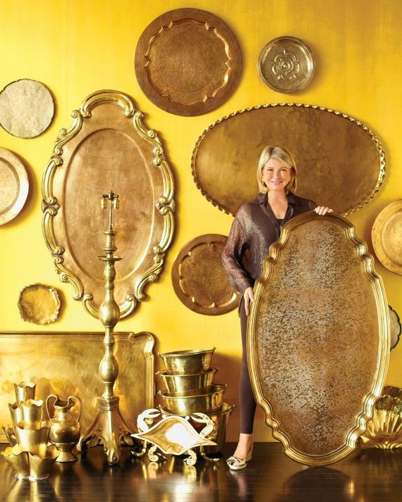 ''I started collecting brass -- I call it poor man's gold -- when I bought Skylands, my house in Maine, 14 years ago... It's exciting to find the large trays. Some of them, such as the Indian and Middle Eastern ones, even came with their own stands. I always keep an eye out for them when I'm traveling.''