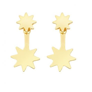 Cayman Earrings in Gold - available in gold and silver.$24.00 Get 25% off these earrings with coupon code 'foxy pin' www.foxyoriginals... #goldjewelry, #goldearrings, #foxyoriginals, #earjackets, #sistergift, #goldearjackets, #jewelrygift, #cutepackaging, #holidaygift, #birthdaygift, #momgift, sister gift, jewelry gift, best friend gift, holiday gift, teenager gift, birthday gift, silver jewelry, cute packaging, gold packaging