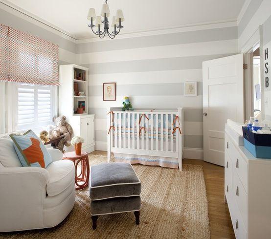 Kinderzimmer  Gestalten Deko Ideen Wandstreifen