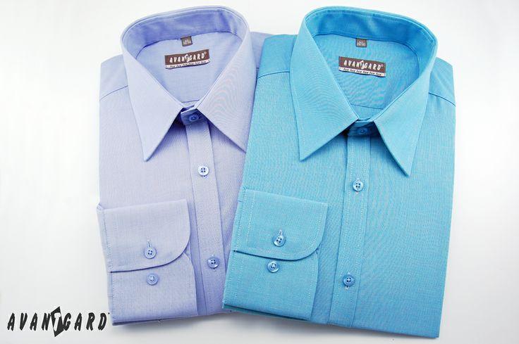 Tyrkysová a modrá košile AVANTGARD SLIM /// Turquoise and blue shirt AVANTGARD SLIM