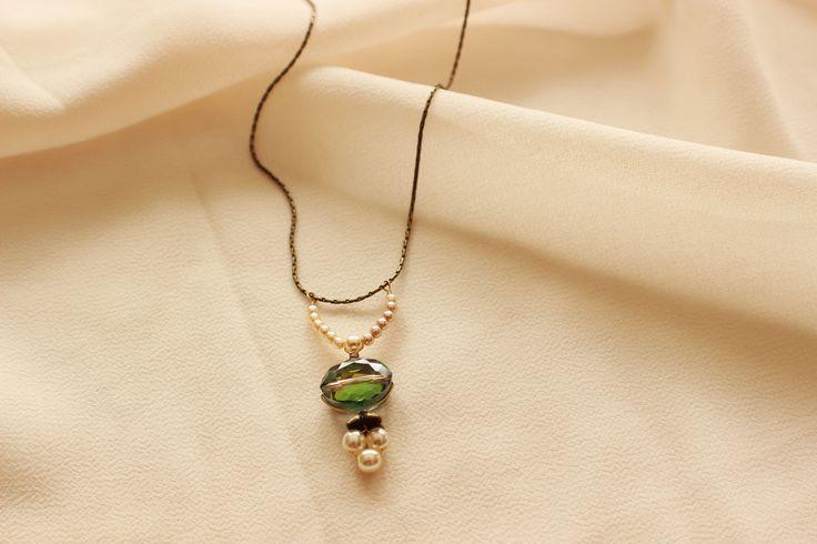 Vintage Drop Woodnymph Necklace - Bridal Jewelry, Wedding Jewelry, Bridesmaid Jewelry, Mother of the Bride Jewelry - http://www.robingoodfellowdesigns.com/woodnymph-necklaces/vintage-drop-woodnymph-necklace