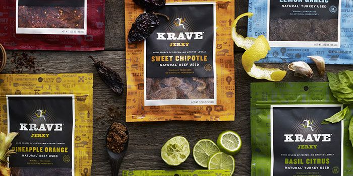 KRAVE Jerky – Love the color and matte finish of the packaging.