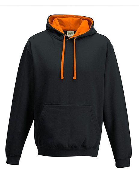 Varsity Hoodie - Jet Black/Orange Crush