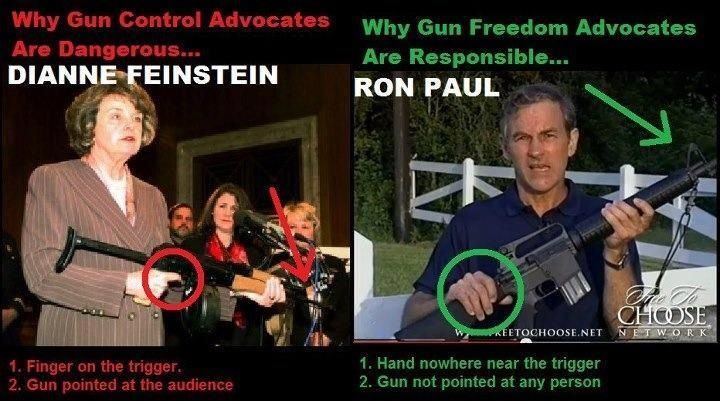 more proof gun control advocates should be nowhere near a gun-these people are dangerous. ron paul on the other hand-NOT