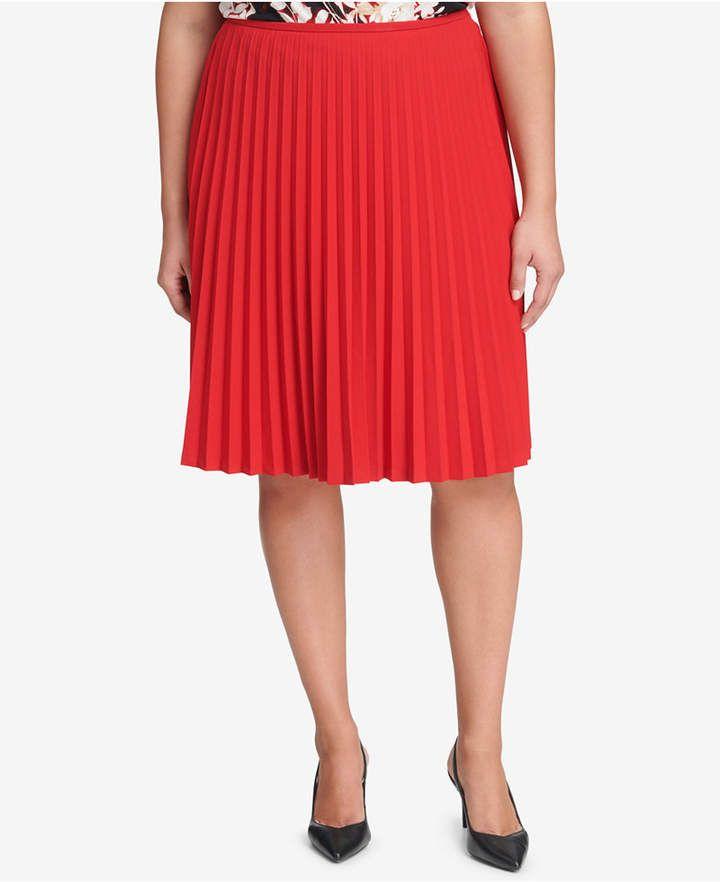 950050e669 Calvin Klein Plus Size Pleated A-Line Skirt   Plus Size Skirts   A ...