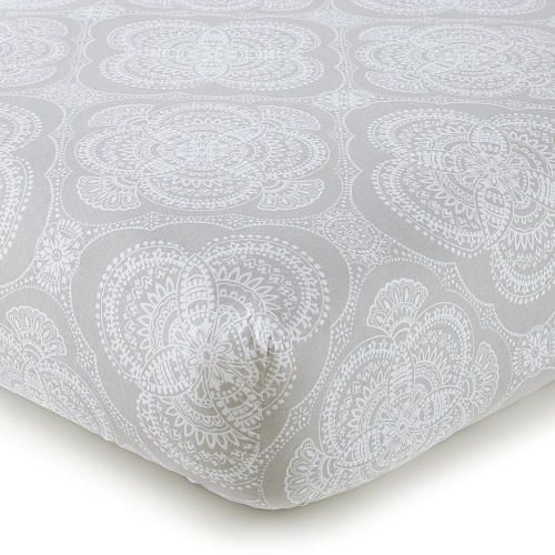 "Levtex Baby Willow Medallion Fitted Crib Sheet - Gray - Levtex Baby - Babies ""R"" Us"