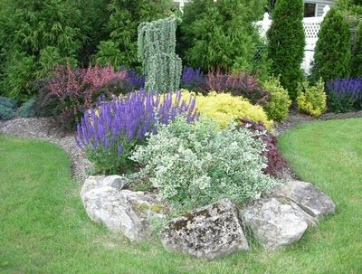 1000 images about boulder landscaping on pinterest news for Perennial flower bed design