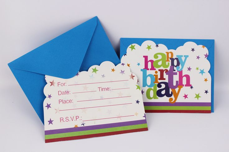 12 People UseKid Boy Girl Happy Birthday Theme  Party Decoration Kids Supplies Favors Invitation Cards
