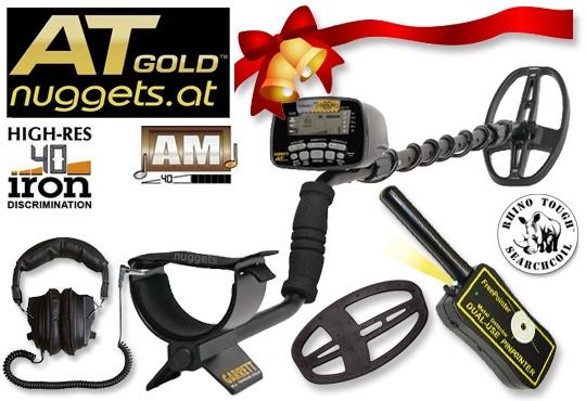 GARRETT AT GOLD Metalldetektor Sonderangebot bei www.nuggets.at - auf Lager und sofort lieferbar - inklusive FreePointer PinPointer + Kopfhörer MasterSound + Spulenschutz + DD SuchSpule + Europa Garantie !