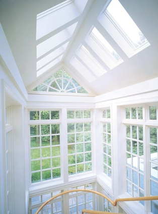 Create a wonderfully bright, light space with a new extension and a vaulted ceiling made of roof windows.