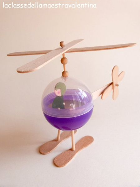 Plastic Helicopter Popsicle Craft
