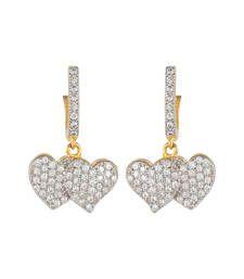Buy Designer  Heart shape hanging hoop Earings hoop online
