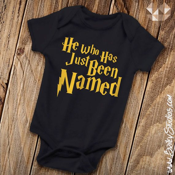 This onesie featuring an epic play-on-words. | 27 Adorable Harry Potter Things Your Baby Needs
