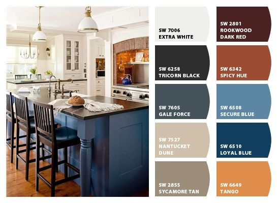 Chip It! by Sherwin-Williams – blues & BRowns  **Gale Force and Sycamore Tan**