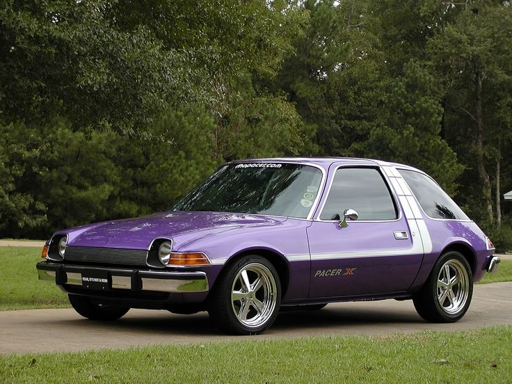 When i was four, i fell in love with the AMC Pacer. What a weird car.