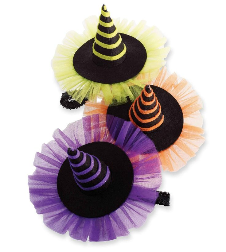 Cute decorated witch hat - for ideas. Mud Pie Witch Hat Halloween Soft Headband