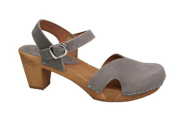 Sanita Wood Matrix Square Flex Sandal Women's Clogs - Black Profile main