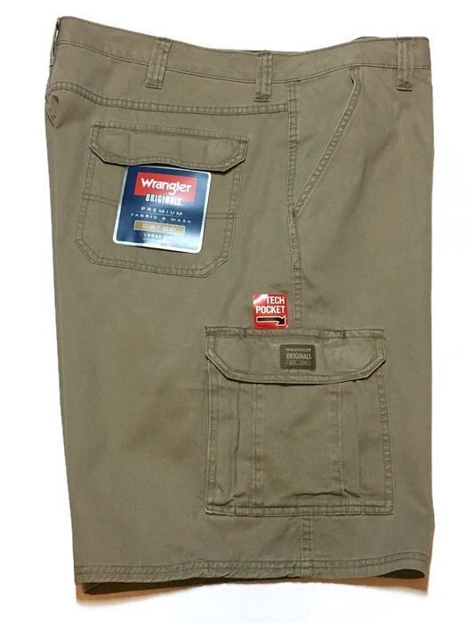 WRANGLER Cargo Shorts 46 Loose Fit Tech Pocket Khaki NEW  | eBay