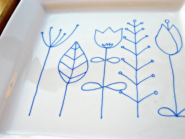 Easy to draw and decorate your own dishes!  Use as gifts for special occasions.
