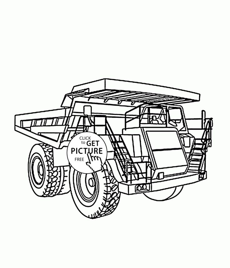 very big truck coloring page for kids transportation coloring pages printables free wuppsy - Big Truck Coloring Pages Kids